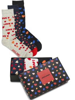 Jack & Jones  Baumwoll Socken - 3er Pack -  Valentins Geschenkbox