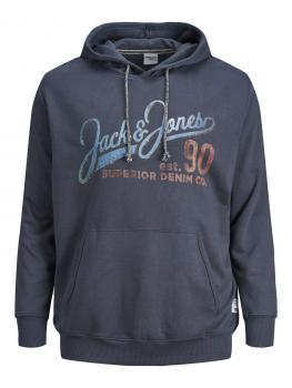 JACK & JONES - in Übergröße / PlusSize Herren Sweatshirt Hoodie - 3XL bis 8XL - JJ30JACK Print