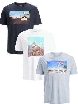 JACK & JONES - Übergröße / PlusSize - Herren T-Shirt - Größen 3XL bis 6XL - JCOCAFE