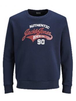 JACK & JONES - in Übergröße / PlusSize Herren Sweatshirt - Größen 2XL - 7XL - JWHLOGO SWEAT CREW