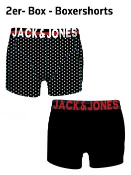 JACK & JONES - Boxershorts Trunks Unterhose - 2er-Pack - JACPRINT